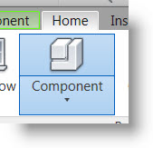 View\Insert Component Command from the HOME Tab