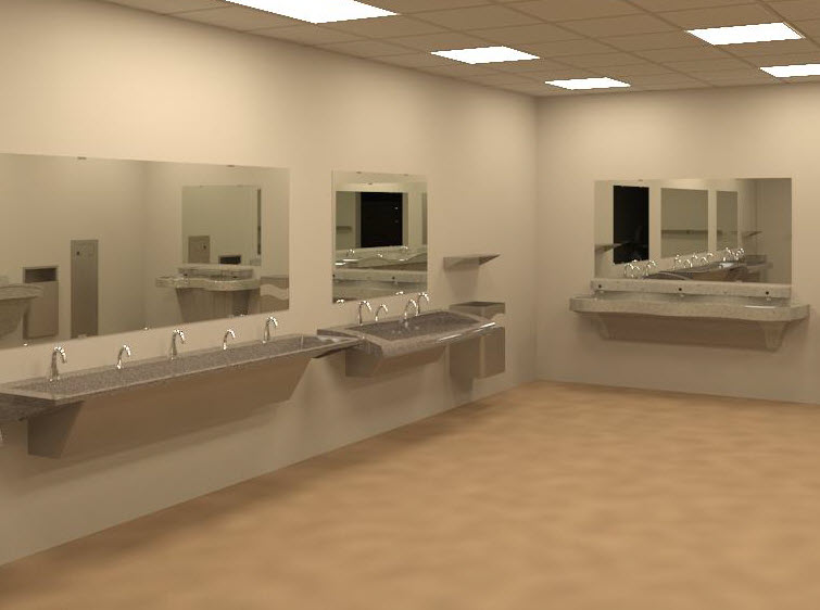 Bradley Verge G-Series Lavatory Revit models