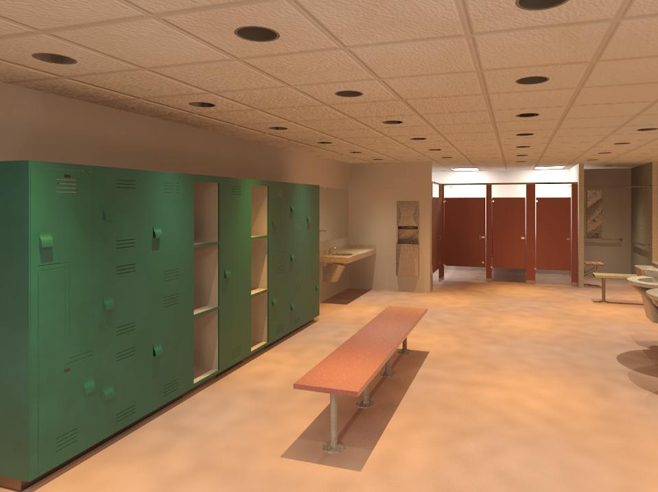Bradley-Locker-Room-Product Revit Models