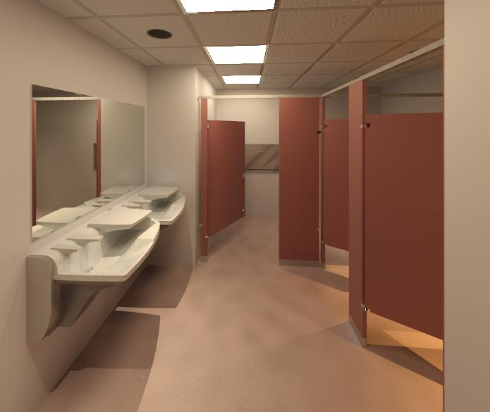 Bradley Revit Toilet Room Product Rendering