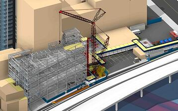 Turner Construction | BIM for Safety Planning | New York City Department of Buildings Approves First 3-Dimensional BIM Site Safety Plans