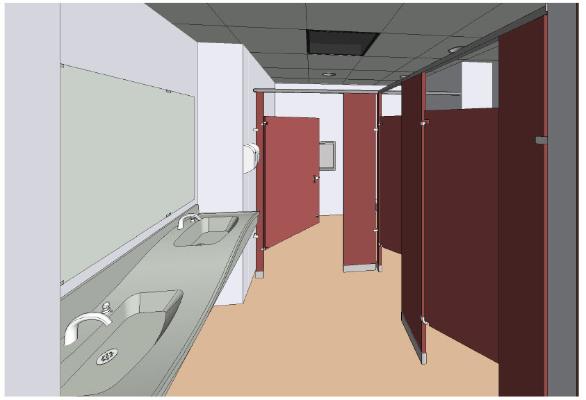 Bradley Revit Toilet Room Products
