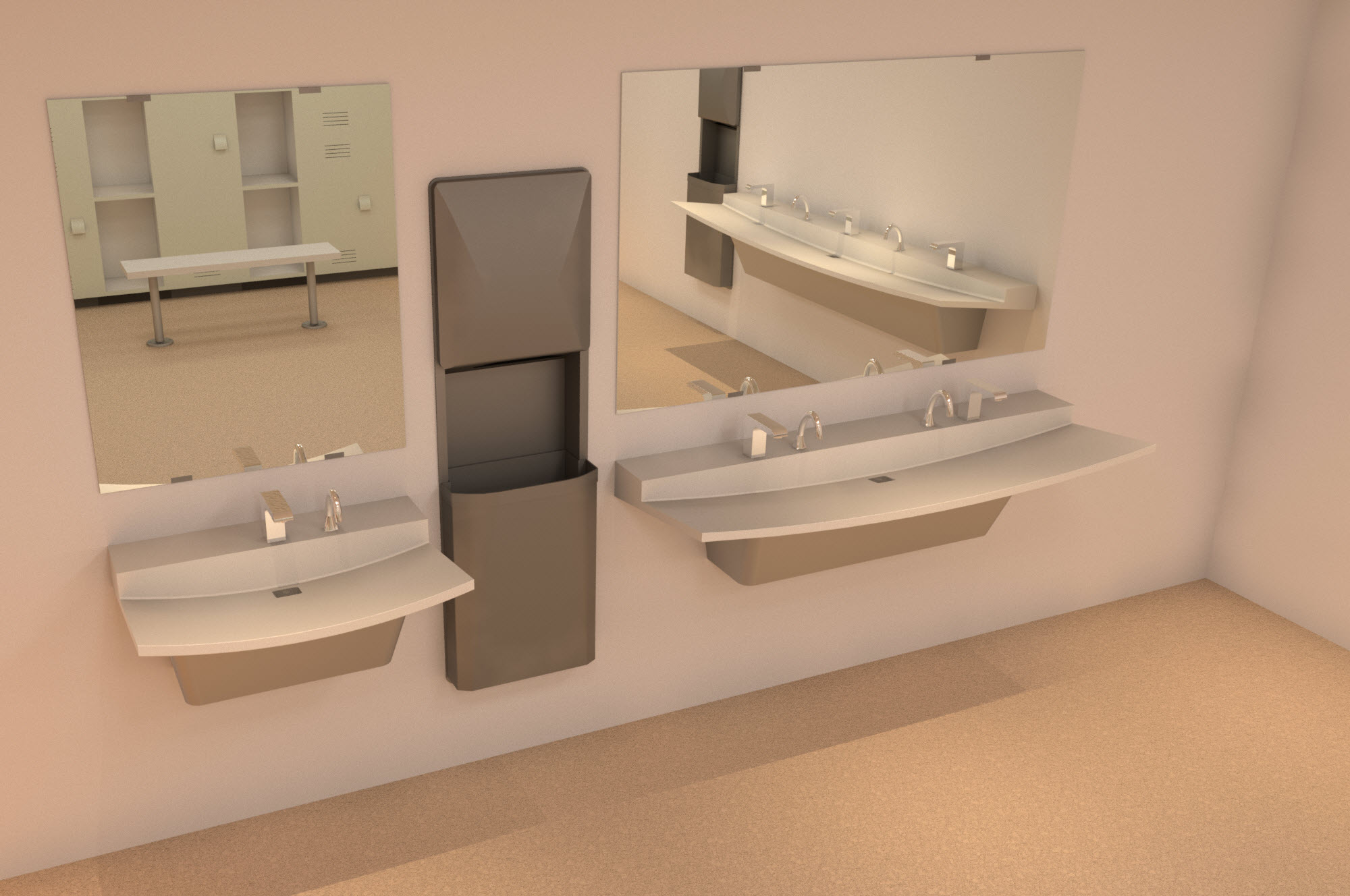 Bradley Verge L-Series Lavatory Revit Models