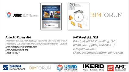 View-Download USIBD Level-Of-Accuracy (LOA) Comparision with BIMFORUM Level-Of-Development (LOD)
