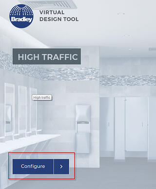 Bradley Virtual Design Center | Select and Configure Environment with Product Models and Materials