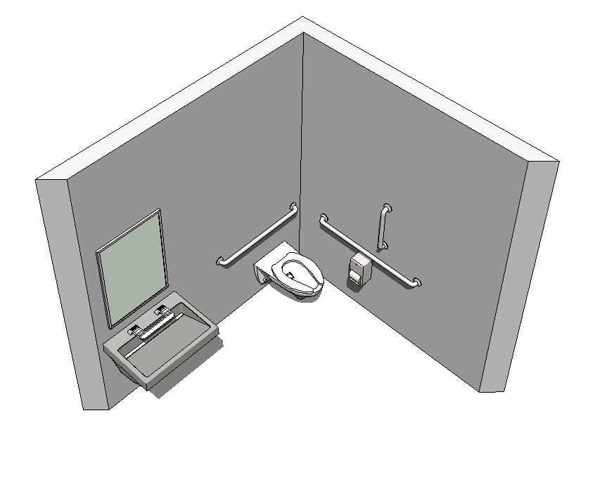 Revit-Handicap-Accessible-Toilet-Room-Bradley-Verge-with-WashBar-3D-View