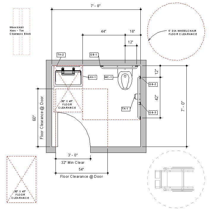 Revit-Handicap-Accessible-Toilet-Room-Bradley-Verge-with-WashBar-Floor-Plan-1