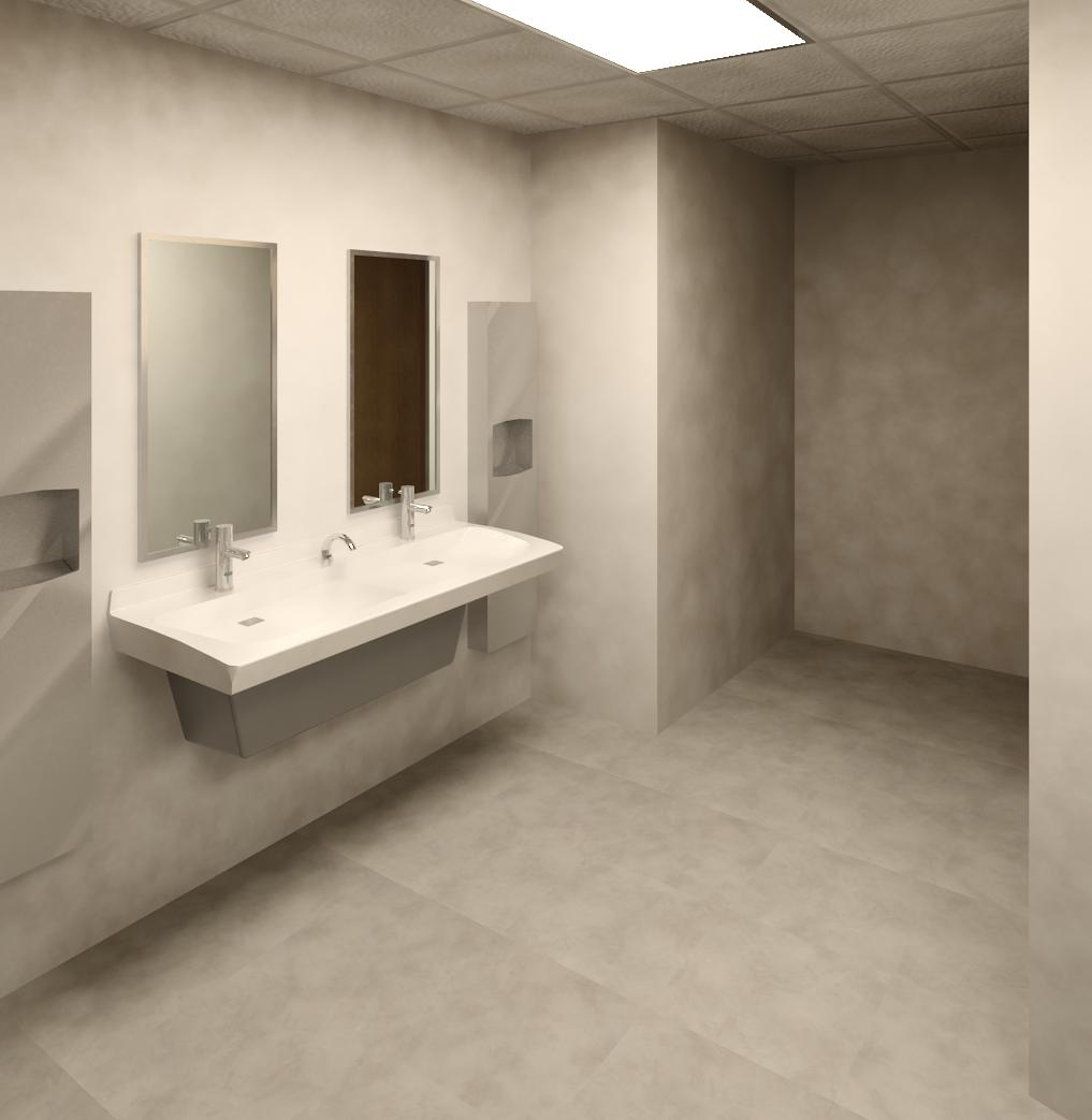 Women Toilet Room | Bradley Express ELX Lavatory Systems - ADA-compliant
