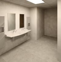 Women Toilet Room | Bradley Verge L-Series Lavatory Systems | ADA Compliant